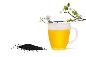 Gelben Tee genießen