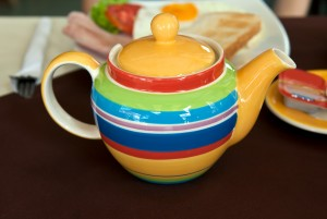 Frühstücksteekanne gestreift