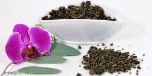 Jiaogulan Tee - getrocknet in weißer Schale